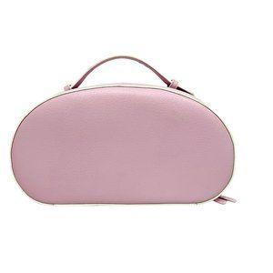 Vintage Estee Lauder Cosmetic Bag Light Pink w/White Edges